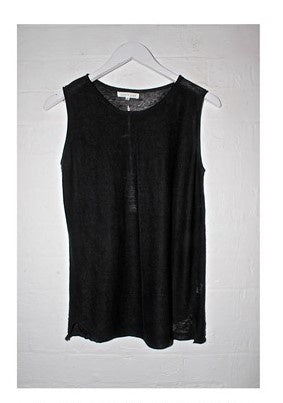 Steph Knitted Tank                        BLACK