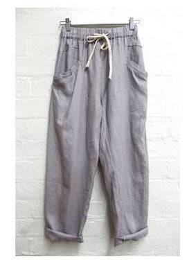 Luxe Ramie Pant    LILAC GREY