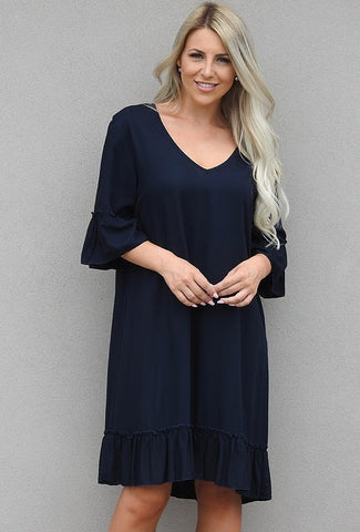 Frill Dress        NAVY