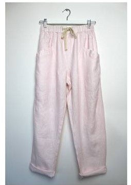Luxe Linen Pant      BABY PINK