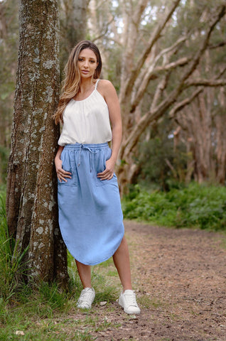 Scoop Skirt        CHAMBRAY