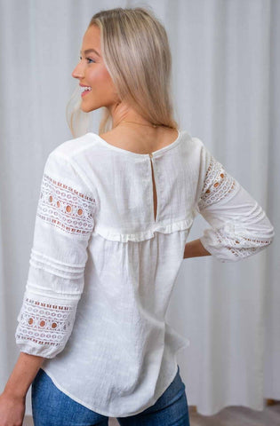 Suzie Tassel Top      WHITE