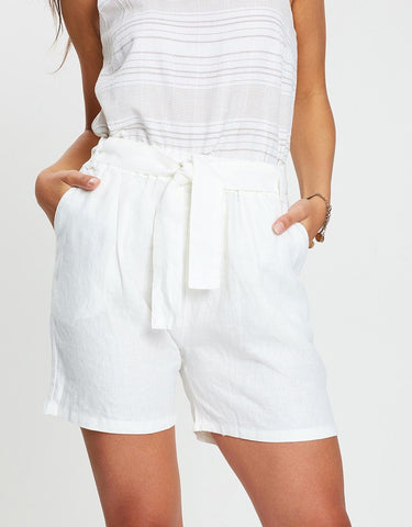 Belted Short        WHITE