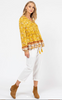 Roma Boho Top     YELLOW PRINT