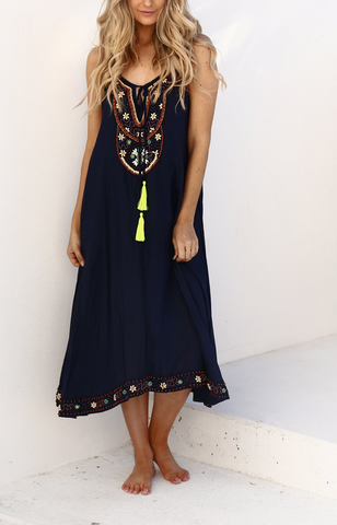 Congo Beaded Maxi     NAVY