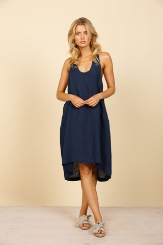 Caraway Shift Dress        INDIGO