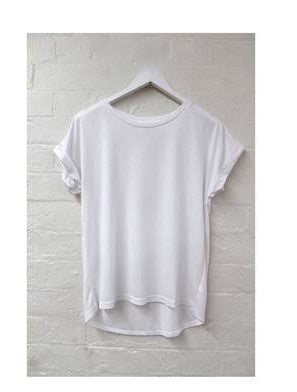Rolled Sleeve Tee WHITE