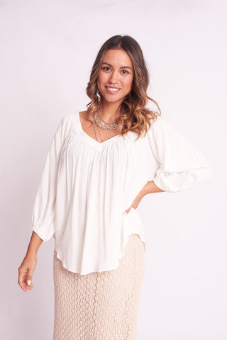 Serina Top     WHITE