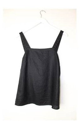 Button Strap Cami      BLACK