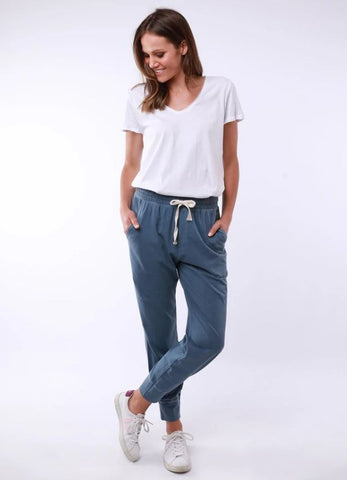 Elm Washout Lounge Pant        STEEL BLUE
