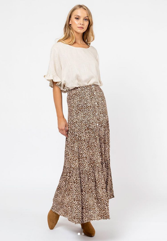 Lauren Skirt       ANIMAL PRINT