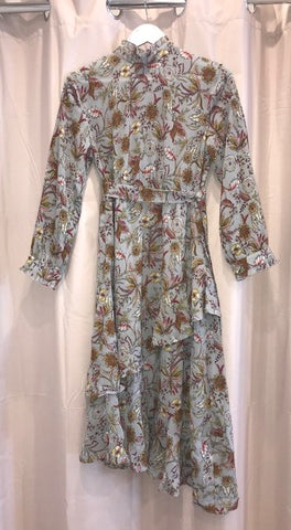 Hailey Dress      GREY FLORAL
