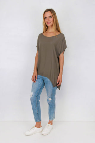 Jane Scoop Top KHAKI
