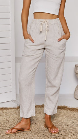 Luxe Ramie Pant     NATURAL