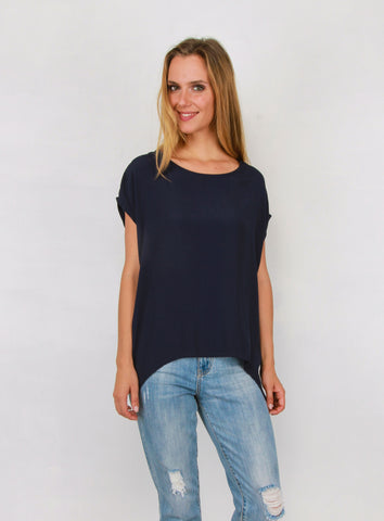 Jane Scoop Top NAVY