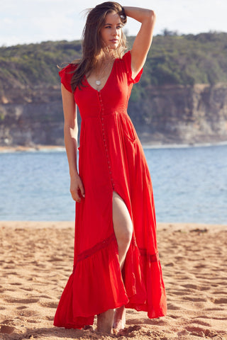 Carmen Dress      RED LOVE