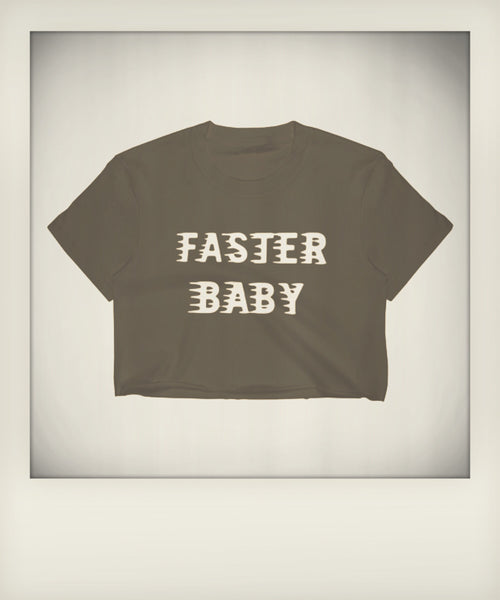 Faster Baby Cropped Tee