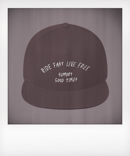Ride Fast Live Free Five Panel Snapback