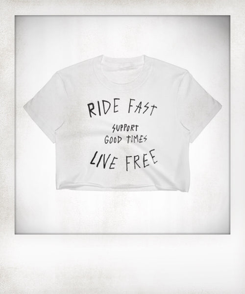 Ride Fast Live Free Cropped Tee