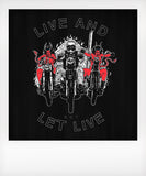 Live And Let Live Devil Tshirt