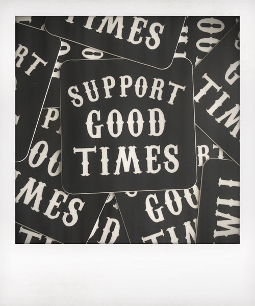 Support Logo Sticker / Square / Black
