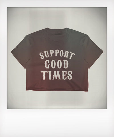 Support Logo Cropped Tee