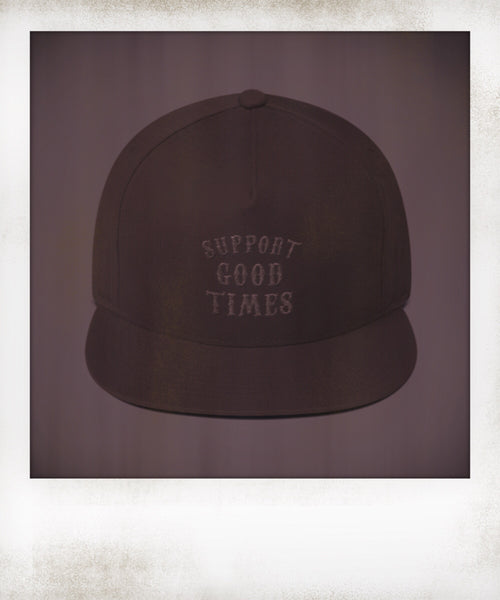 Support Logo Black on Black Snapback