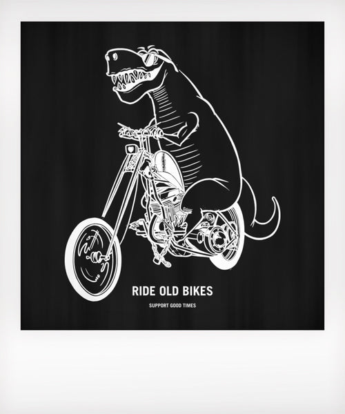Ride Old Bikes Baby Onesie