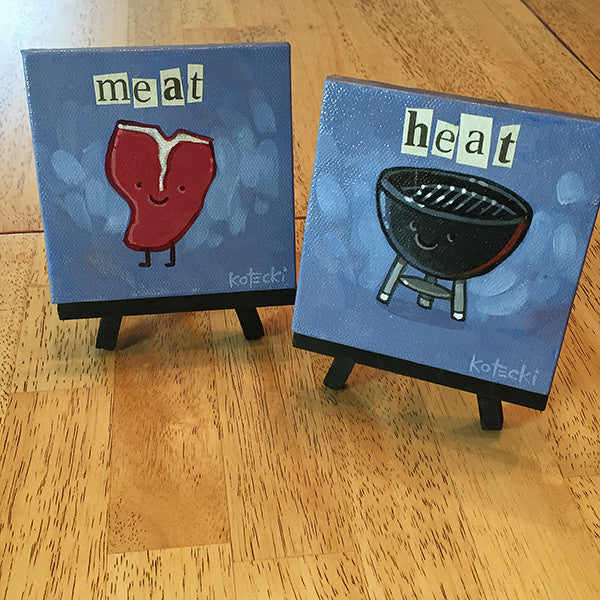 Meat & Heat Original Art