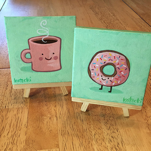 Coffee & Doughnut Original Art