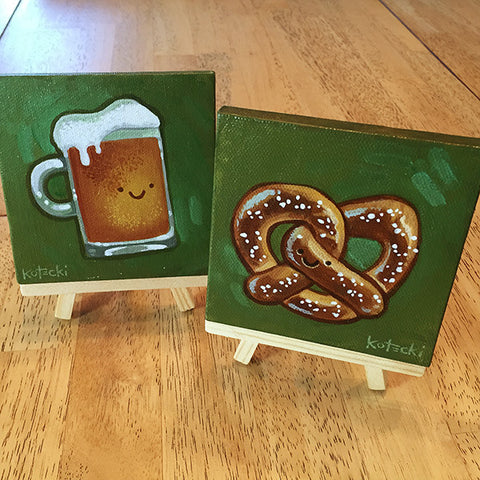 Beer & Pretzel Original Art