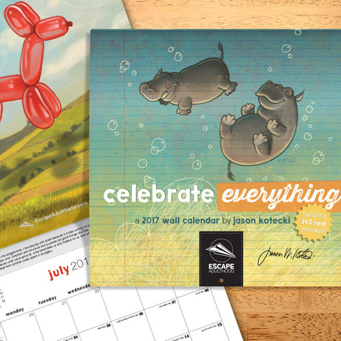 Celebrate Everything 2017 Wall Calendar