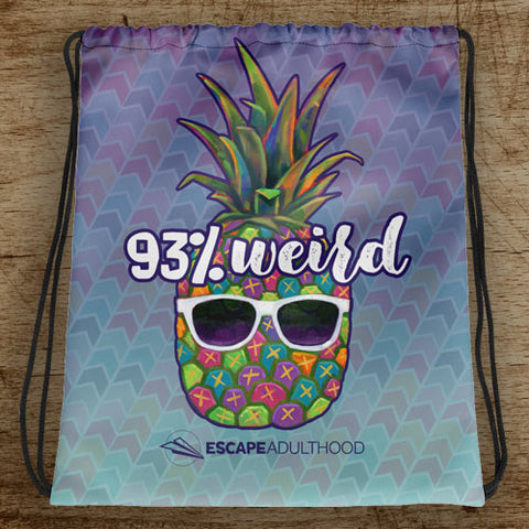 93% Weird Drawstring Bag