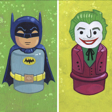 Batman & Joker Original Art