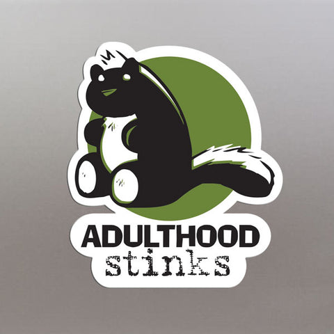 Adulthood Stinks Vinyl Sticker