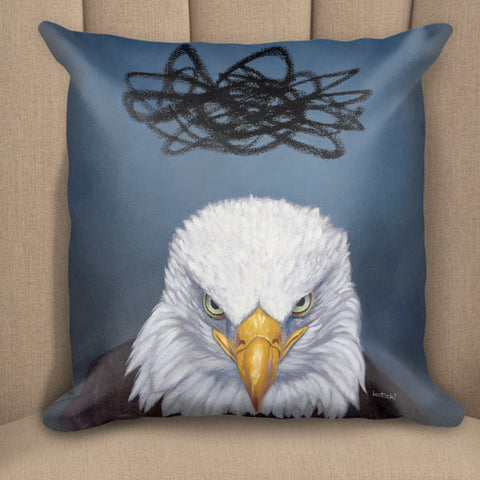 Angry Eagle Pillow