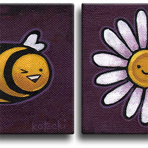 Bee & Flower Original Art