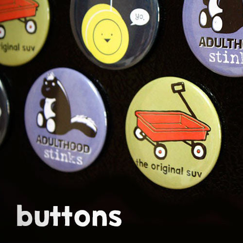 Escape Adulthood Buttons (Series 2)