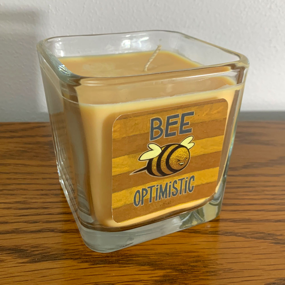 Bee Optimistic Candle