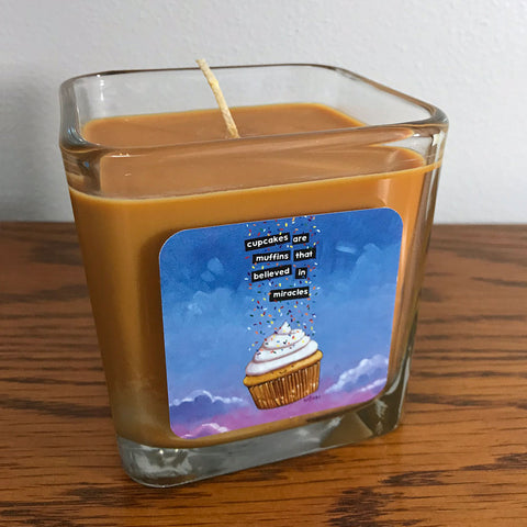 Cupcakes Are Miracles Candle