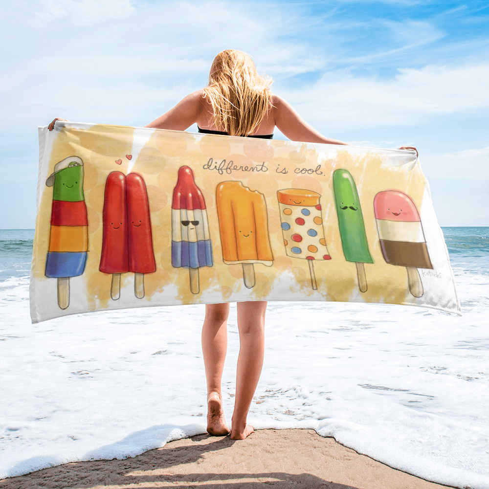 Different Is Cool Beach Towel