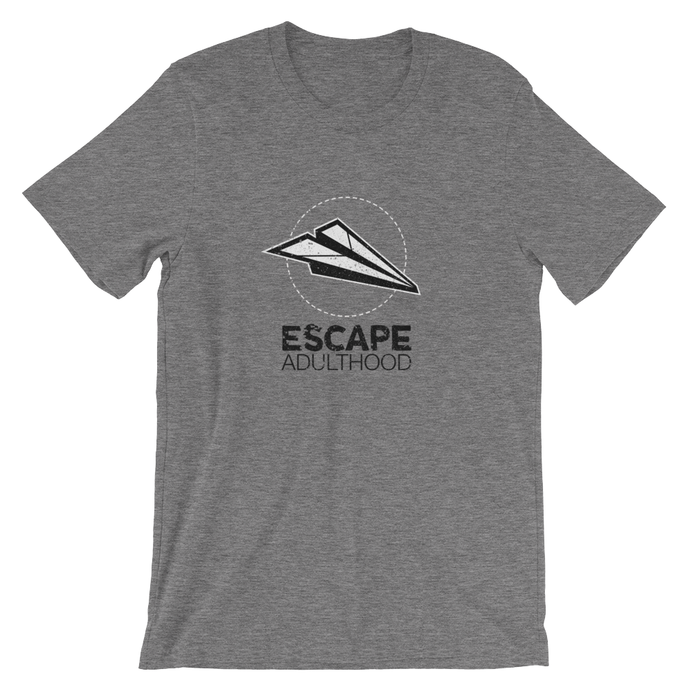 Escape Adulthood Black & White Logo T-Shirt