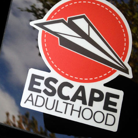 Red Escape Adulthood Vinyl Sticker