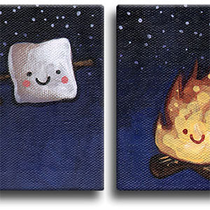 Fire & Marshmallow Original Art