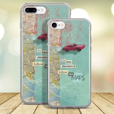 Follow No Maps iPhone Case