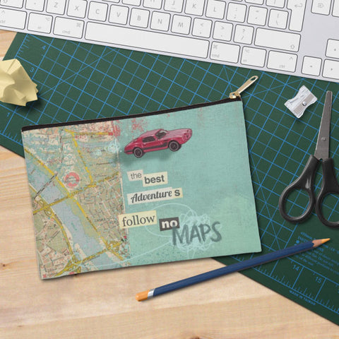 Follow No Maps Zip Pouch