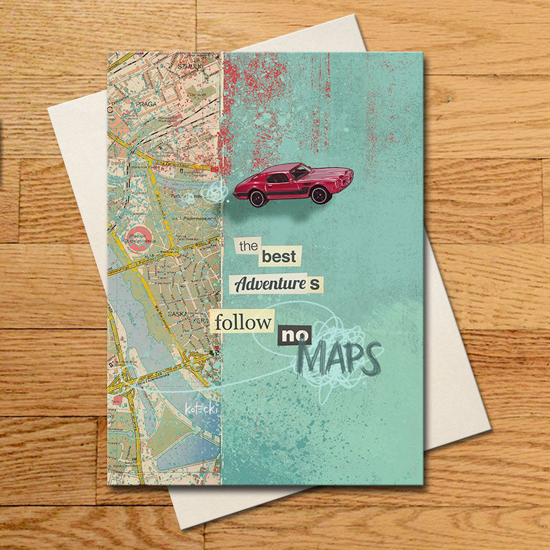 Follow No Maps Greeting Card