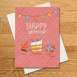Happy Birthday 12-Card Set