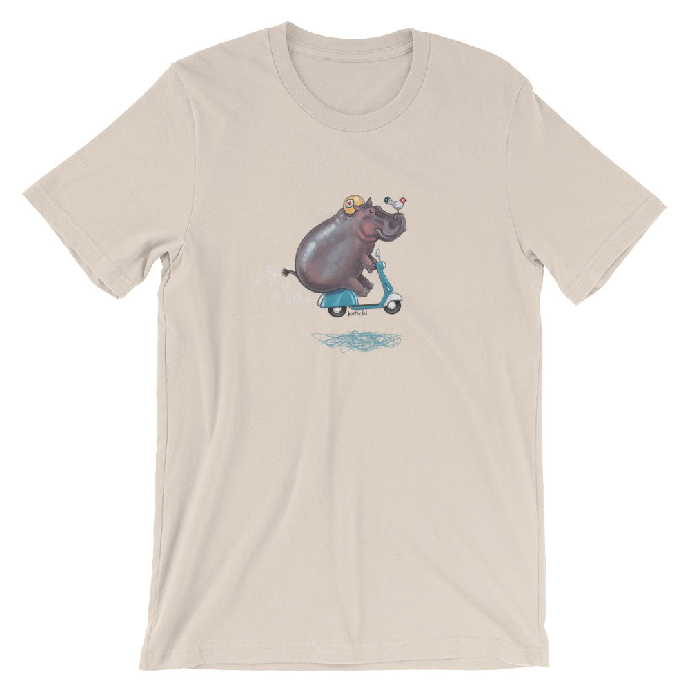 Hippo On Moped T-Shirt
