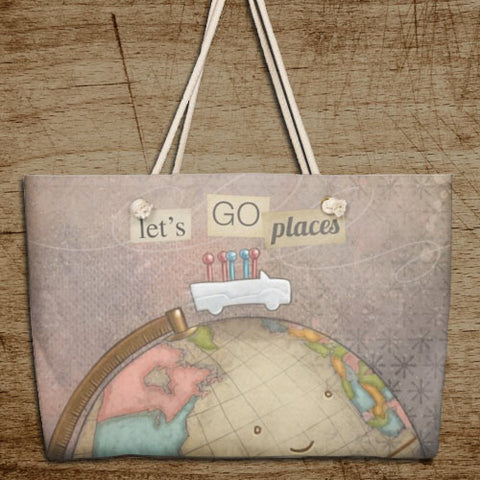 Let's Go Places Weekender Bag